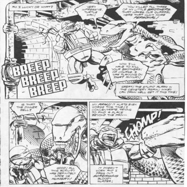 Teenage mutant ninja turtles leonardo kills shredder